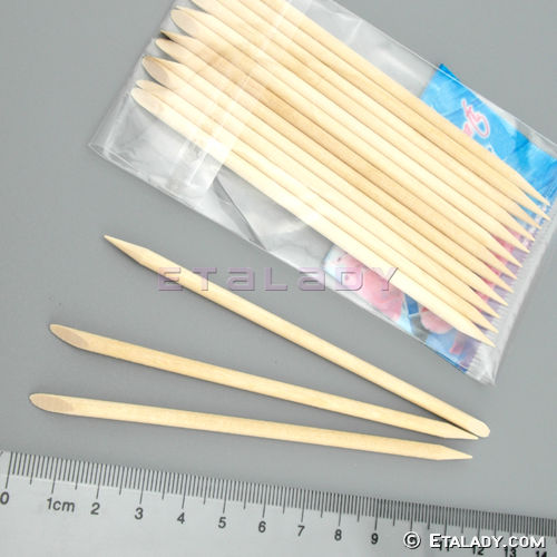 Disposable Orange Wooden Manicure Sticks Nail Art Wood Sticks