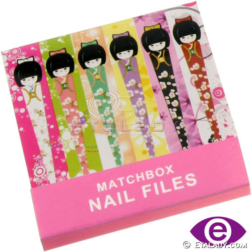 Matchbox Nail Files for gift